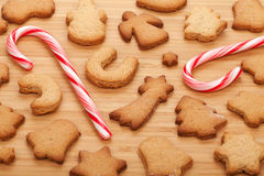 Various gingerbread cookies Royalty Free Stock Photo