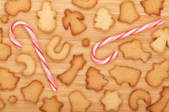 Various gingerbread cookies Royalty Free Stock Images