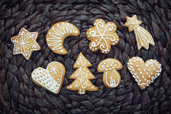 Various gingerbread cookies Stock Photo