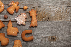 Various gingerbread cookies Royalty Free Stock Photography
