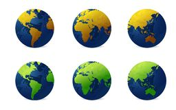 Various globe Royalty Free Stock Images