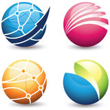 Various Globe Buttons Royalty Free Stock Photos