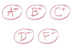 Various Grades stock image