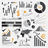 Various graphs for your business or stock market Stock Image