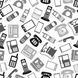 Various grayscale phone symbols Stock Image