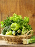 Various green vegetables Royalty Free Stock Photo