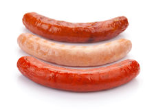 Various grilled sausages Royalty Free Stock Images