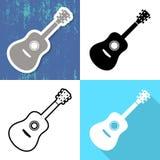 Various guitar cards Stock Images