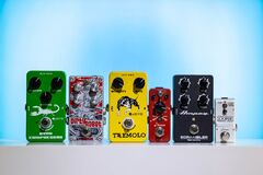 Free Various Guitar Effects Stomp Pedals Royalty Free Stock Photography - 180870337
