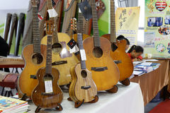 Various guitar in the musical instruments Royalty Free Stock Photos