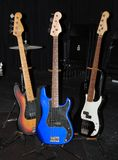 Various Guitars on Stage Stock Images