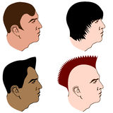 Various Hairstyles Royalty Free Stock Images
