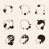 Various hairstyles design Stock Photography