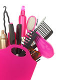Various hairstyling equipment Royalty Free Stock Photo