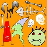 Various Halloween elements Stock Photography