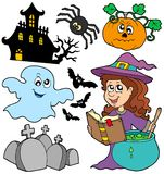 Various Halloween images 5 royalty free illustration