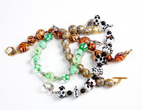 Various hand made bracelets royalty free stock images