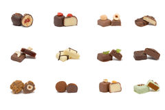 Various hand-made candies stock image