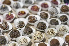 Various hand made candies Royalty Free Stock Photo