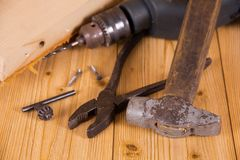 Various hand tools Stock Image