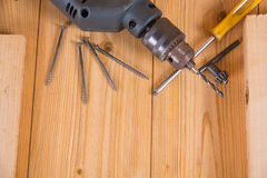 Various hand tools Royalty Free Stock Image