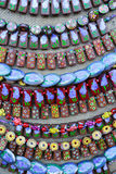 Various handicrafts fair: colored beads Royalty Free Stock Photos