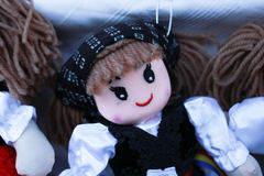 Various handicrafts fair: colored doll Stock Photo