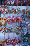 Various handicrafts fair: traditional lollipops, colored models Stock Photography
