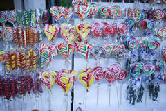 Various handicrafts fair: traditional lollipops, various models Stock Image