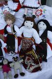 Various handicrafts fair: Traditional Romanian dolls Royalty Free Stock Photos