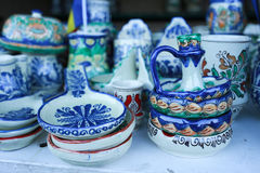 Various handicrafts fair: various ceramics Royalty Free Stock Images