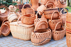 The various handmade pads wickers. Royalty Free Stock Photo