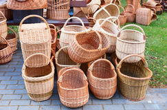 The various handmade pads wickers. Royalty Free Stock Photography