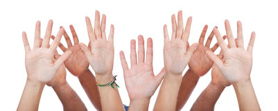 Various hands Royalty Free Stock Photo