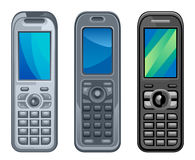 Various handset Stock Photography