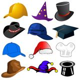 Various hats illustration Royalty Free Stock Images