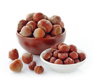 Various hazelnuts Royalty Free Stock Images