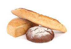 Various healthy bread. Royalty Free Stock Photos