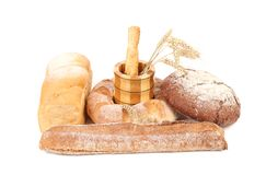 Various healthy bread. Royalty Free Stock Photography