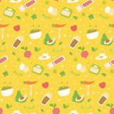 Various healthy food seamless pattern royalty free illustration