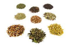 Various heaps and tastes of tea Royalty Free Stock Images