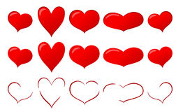 Various hearts Royalty Free Stock Photos