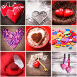 Various hearts Stock Photography