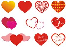 Various hearts Royalty Free Stock Image