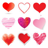 Various hearts Royalty Free Stock Photography