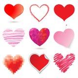 Various hearts Royalty Free Stock Photography