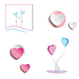 Various hearts Royalty Free Stock Images