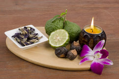 Various herbs for hair.