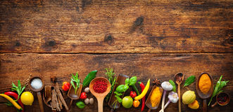 Various herbs and spices Stock Photography