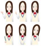 Various high school girls Stock Photo